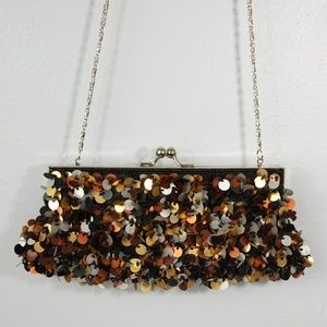 Sequin Clutch Purse with chain